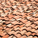 Tiles on old castle roof Royalty Free Stock Photos