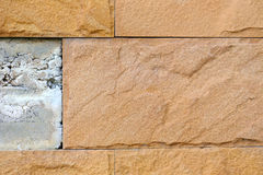 Tiles out of the wall Royalty Free Stock Images