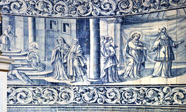 Tiles Panel on the wall of the Chapel of Good Help Stock Photography