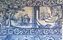 Tiles Panel on the wall of the Chapel of Good Help Stock Photos
