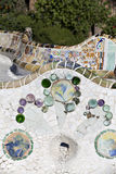 Tiles Parc Guell Royalty Free Stock Images
