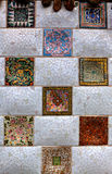 Tiles park guell, Barcelona, Spain Stock Image