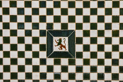 Tiles in Paseo de San Francisco in Badajoz Stock Photo