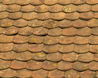 Tiles pattern. Red roof tile pattern, background Royalty Free Stock Photography