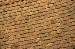 Tiles pattern. Red roof tile pattern, background Stock Photography