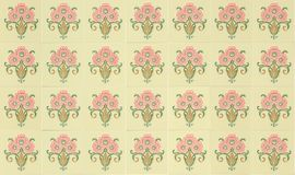 Tiles Peranakan style. Seamless ornamental Peranakan style tile background Stock Photos