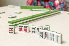 Tiles for playing mahjong Royalty Free Stock Images