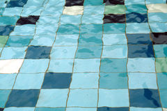 Tiles in pool Stock Photo