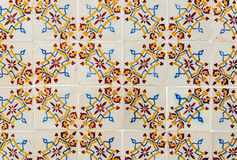 Tiles of Portugal. Ceramics - old square tiles of Portugal Stock Photo