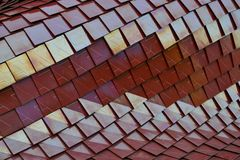 Tiles posed in a curved style. Stock Photo