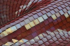 Tiles posed in a curved style. Stock Photography