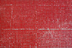 Tiles with red color background texture Royalty Free Stock Images