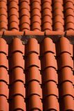 Tiles in roof Stock Images