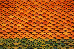 Tiles roof background. In thailand temple Stock Images