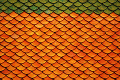 Tiles roof background. In Thailand Temple Stock Photography