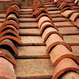 Tiles on the roof of Campanile of Florence Cathedral. Florence. Royalty Free Stock Image