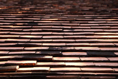 Tiles on the roof of house Royalty Free Stock Photo