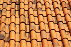 Tiles roof old background vintage Stock Images