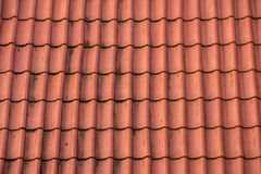 Tiles on the roof in the old Stock Photography
