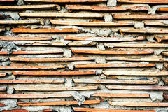 Tiles roof in wall as background Royalty Free Stock Photos