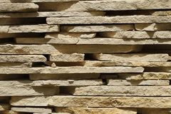 Tiles from sandstone close up. horizontal Royalty Free Stock Image