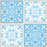 Tiles seamless collection, Portuguese or Spanish  tile design Royalty Free Stock Photos