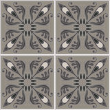 Tiles seamless pattern. Vintage background - Victorian ceramic tile in vector Stock Images