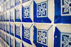 Tiles in a street in Alfama Stock Image