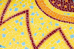 Tiles. Surface covered with red and yellow tiles royalty free stock photo