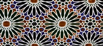 Tiles from Toledo, Spain. Close up view at Tiles from Toledo, Spain Stock Images