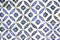 Tiles in Topkapi Palace of Istanbul, Turkey Royalty Free Stock Image