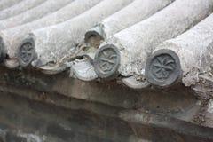 Tiles on Wall near Boya Pagoda, Peking University, Beijing Stock Photo