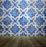 Tiles wall from Portugal wall and floor background Royalty Free Stock Photos