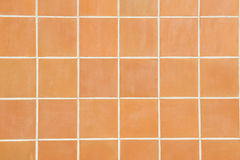 Tiles. A wall of square red tiles Royalty Free Stock Images