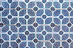 Tiles of walls of New mosque in Fatih, Istanbul Royalty Free Stock Photography