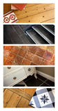 Tiles and wooden floor Stock Photos