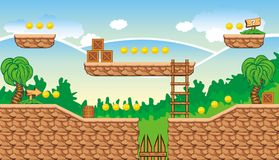 Tileset 11 do jogo Foto de Stock Royalty Free