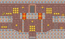 Tileset 17 do jogo Foto de Stock