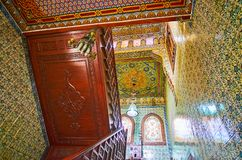 tilework在Manial复合体,开罗,埃及招待会宫殿  免版税库存图片