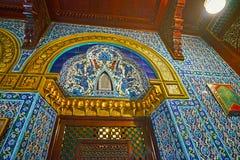 Tilework在Manial宫殿,开罗,埃及 库存图片