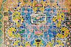 Tilework ceramico decorativo del palazzo di Golestan fotografia stock libera da diritti