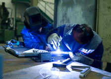 Tilg welder training Stock Image