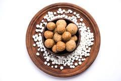 Makar Sankranti - Tilgul or Til Gul with haldi Kumkum and halwa/chiranji or sugar balls Stock Images