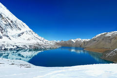 Tilicho Lake in Annapurna Conservation Area, Nepal royalty free stock photo