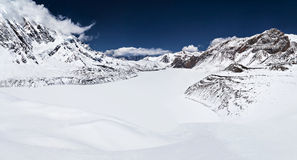 Tilicho lake and Himalaya mountains Stock Photos
