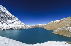 Tilicho lake 4,919 m in the Annapurna range of the Himalayas. Tilicho lake  4,919 m  in the Annapurna range of the Himalayas, Nepal stock photos