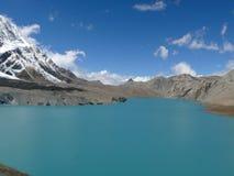 Tilicho lake and Tilicho peak, Nepal Royalty Free Stock Photo
