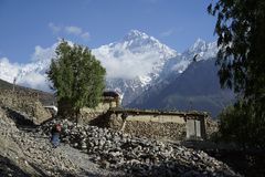 The Tilicho peak in Annapurna Circuit Stock Image