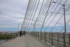 Tilikum横穿,桥梁风景在波特兰 库存照片