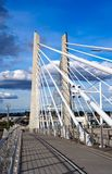 Tilikum Crossing OHSU bridge for trams buses bikes and pedestria Royalty Free Stock Images